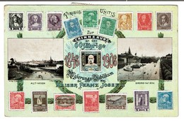 Erinnerung An Das 60 Jährige Regierungs-Jubiläum Kaiser Franz Jozef I - Autriche - Österreich - François-Joseph  2 Scans - Timbres (représentations)