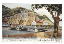 CPA 38 - Grenoble Le Pont De L'esplanade Et Les Forts 4 Septembre 1907 - Grenoble