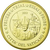 Vatican, Médaille, 20 C, Essai-Trial Benoit XVI, 2012, FDC, Copper-Nickel Gilt - Jetons & Médailles
