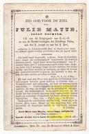 DP Julie Matte ° Lichtervelde 1847 † 1877 / Matt Matter - Images Religieuses