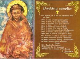 San Francesco, Preghiera Semplice - Francobollo Di S. Francesco Con Timbro Visita Di S.S. Giovanni Paolo II - Assisi - Altre Città