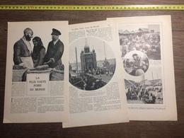 1909 DOCUMENT LA PLUS VASTE FOIRE DU MONDE NIJNI NOVGOROD - Vieux Papiers