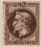 N°30b Nuance Brun Noir, Pas Courant, TB - 1863-1870 Napoléon III. Laure