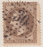 N°30 Oblitéré étoile 30, Un Défaut. Un Défaut Dans Un Angle. - 1863-1870 Napoléon III. Laure
