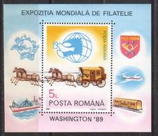 Rumänien; 1989; Michel Block 258 **; World Stamp Expo Washington - 1948-.... Republics