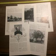 1909 DOCUMENT LE POETE DES PAYSAGES DE FRANCE COROT PIERRE PETIT - Vieux Papiers