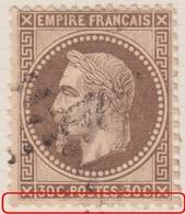 N°30 Avec Bon Centrage, Un Filet Quasiment Absent, TB - 1863-1870 Napoléon III. Laure