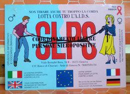 Lotta Contro AIDS Coordinamento Ligure Persone Sieropositive CARTOLINA CARD - Santé