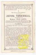 DP Justina VandeWalle ° Aarsele Tielt 1828 † Lichtervelde 1886 X Felix Labens - Images Religieuses