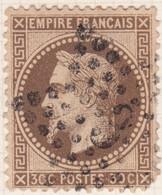 N°30 Oblitéré étoile 3, Un Défaut. Un Défaut Dans Un Angle. - 1863-1870 Napoléon III. Laure