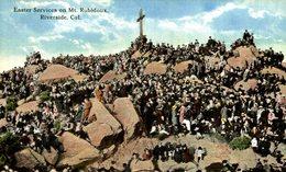 Cp Riverside Kalifornien USA, Easter Services On Mount Rubidoux - Estados Unidos