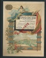 Madrid (Espagne) Exposition 1890. Au Dos Dr. Wander , Bern. Voir Détails. 2 Scans. - Expositions