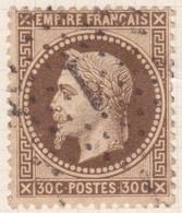 N°30 Oblitéré étoile 1, Belle Nuance, TB - 1863-1870 Napoléon III. Laure