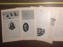 1909 DOCUMENT LE POLE NORD EST CONQUIS COOK PEARY FRANCE ARMEE NOIRE - Vieux Papiers