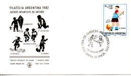 ARGENTINE. N°1365 De 1983 Sur Enveloppe 1er Jour. Toupie. - Otros