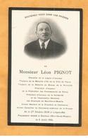 IMAGE GENEALOGIE FAIRE PART AVIS DECES CARTE MORTUAIRE CHEVALIER LEGION HONNEUR PIGNOT LONGWY BASLIEUX 1854 1924 NANCY ( - Décès