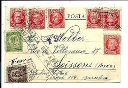 CARTE POSTALE - Barcelona ESPANA 10/01/1939 Pour La Francia - CACHET CENSURA - 1931-Today: 2nd Rep - ... Juan Carlos I