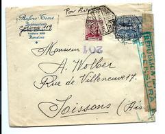 LETTRE Barcelona ESPANA 1938 Pour La Francia - CACHET CENSURA - 1931-Today: 2nd Rep - ... Juan Carlos I