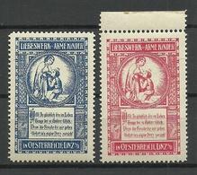 AUSTRIA Österreich Ca 1910 Wohlfahrt Arme Kinder Spendemarken Charity Linz Child Protection MNH - Vignetten (Erinnophilie)