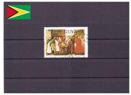 Guyane 1989 - Oblitéré - Noël - Peinture - Michel Nr. 3072 (guy013) - Guyane (1966-...)