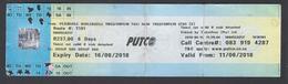 2018 -Ticket Autobus - PUTCO - Pretoria - South Africa - Used - Abbonamenti