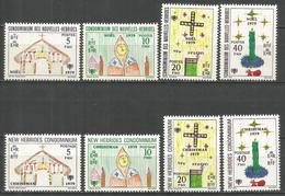 NUEVA HEBRIDES YVERT NUM. 567/574 ** SERIE COMPLETA SIN FIJASELLOS - Leyenda Francesa