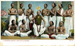 A MADRAS SADHU AND FOLLOWERS - India