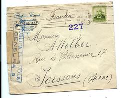 LETTRE Barcelona ESPANA MARS 1938 Pour La Francia - CACHET CENSURA - 1931-Today: 2nd Rep - ... Juan Carlos I