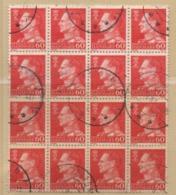 Dänemark 1965 MiNr.: 429x Frederik IX 16 Marken Teilbogen Gestempelt; Denmark Part Sheet Used - Dänemark