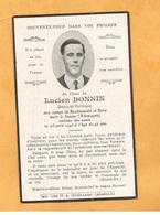 FAIRE PART AVIS DECES CARTE MORTUAIRE WW2 DEPORTATION DEPORTE POLITIQUE BUCHENWALD DORA SEEZEN BONNIN - Obituary Notices