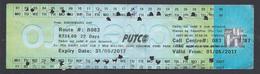 2017 -Ticket Autobus - PUTCO - Pretoria - South Africa  - Used - Abbonamenti