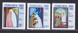 COSTA RICA AERIENS N°  636 à 638 ** MNH Neufs Sans Charnière, TB (D8172) Noêl, Tableaux De Jorge Gallardo -1975 - Costa Rica