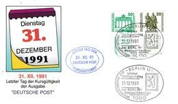 """DDR, Brief """"Letzter Tag Der Kursgültigkeit"""" (B 115e) - [6] Repubblica Democratica"""