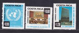 COSTA RICA AERIENS N°  633 à 635 ** MNH Neufs Sans Charnière, TB (D8173) Anniversaire Des Nations Unies -1975 - Costa Rica