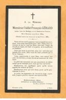 IMAGE GENEALOGIE FAIRE PART AVIS DECES CARTE MORTUAIRE ABBE GERARD CURE NOUHIGNY DOMEVRE VEZOUZE BARBAS 1805 1887 - Décès