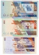 1997 // BANKA E SHQIPERISE // 100/200/500 LEKE // AU - Albanie
