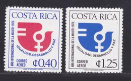 COSTA RICA AERIENS N°  631 & 632 ** MNH Neufs Sans Charnière, TB (D8174) Année Internationale De La Femme -1975 - Costa Rica