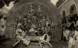 RPPC RARE THE DURGA OF THE DURGA POOJAH FESTIVAL - India