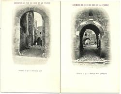 2 Cp VENCE Chemins De Fer Du Sud De La France N°30 & 31 Ancienne Porte & Passage Sous Portiques - Vence