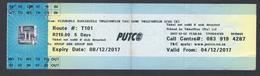 2017 -Ticket Autobus - PUTCO - Pretoria - South Africa  - Used - Wochen- U. Monatsausweise