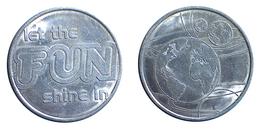00293 GETTONE TOKEN JETON FICHA GAMING AMUSEMENT LET THE FUN SHINE IN AMUSEMENT TOKEN 3 EARTH - Royaume-Uni