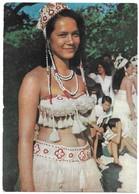 Tahiti Publicité Amora Jeune Fille En Costume De Danse - Polynésie Française
