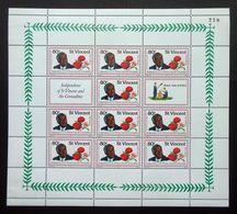 St. Vincent 1979 SG605 80c Independence Of St Vincent & The Grenadines Minisheet With Control Number 258 MNH. - St.Vincent (1979-...)