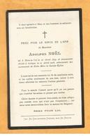 IMAGE PIEUSE CARTE MORTUAIRE GENEALOGIE FAIRE PART AVIS DECES NOEL DION LE VAL COLOGNE 1855 1908 - Décès