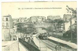 Paris XXème Panorama De La Station De Ménilmontant - Transport Urbain En Surface