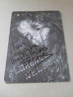 Carte Avec Autographe De Florence Nelson - Autographes