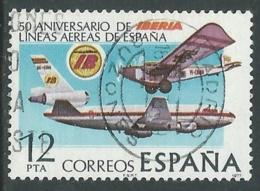 1977 SPAGNA USATO COMPAGNIA AEREA IBERIA - F13-8 - 1931-Today: 2nd Rep - ... Juan Carlos I