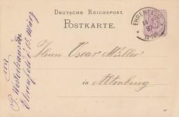 DR Ganzsache K2 Ehrenfeld - Deutschland