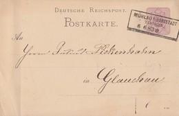 DR Ganzsache R3 Mühlau B. Burgstädt I. Sachsen 6.6.83 - Allemagne