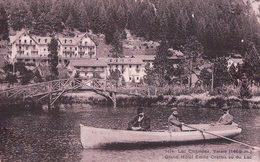 Champex, Barque Sur Le Lac Et Grand Hôtel Emile Crettex (9474) - VS Valais